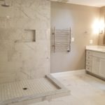 Porcelain Marble Tiled Master Bathroom