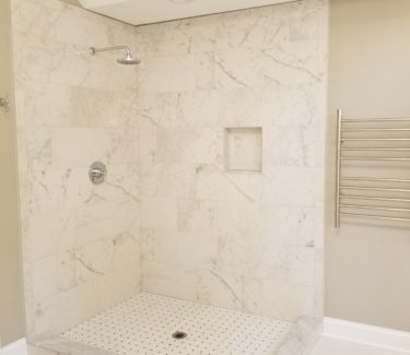 Large Walk-in Tiled Shower