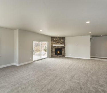Spacious open finished basement